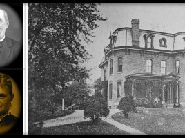 photo of James Andrew & Eliza Emery Crawford. Their house was named Birchlawn.