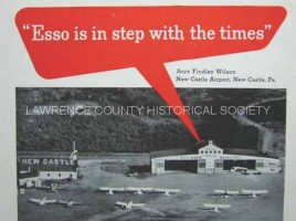 photo of esso oil ad in aviation magazine