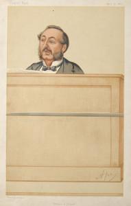 caricature of ira sankey