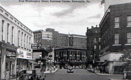 East Washington Street in New Castle PA