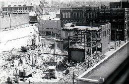 Destruction of city block in New Castle 1972