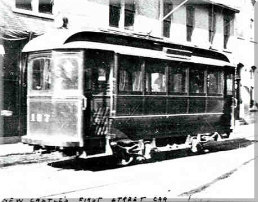 First trolly car in Lawrence County