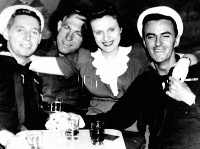 Navy sailors in bar