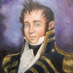 portrait of Captain James Lawrence by artist Jennifer King