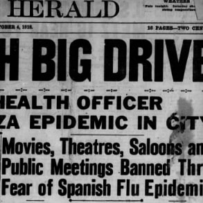 Sound Familiar? Influenza Epidemic 1918