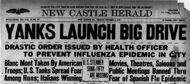 nc news october 4, 1918 influenza epidemic