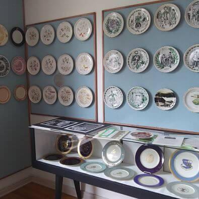shenango china display of plates