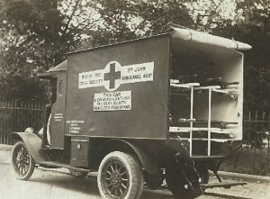 photo of ambulance purchased by south side red cross society in new castle pa