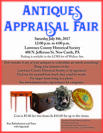 photo of antiques appraisal fair brochure