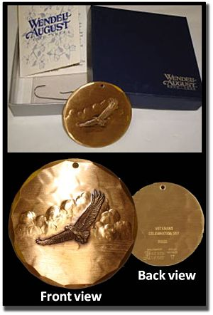 photo of veterans day bronze ornament