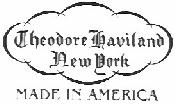 Logo for Theodore Haviland, New York. Made in America