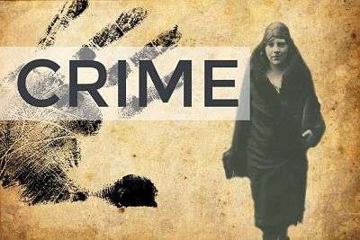 photo of women and the word crime