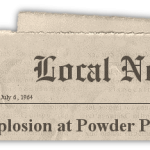 American Cyanamid powder plant explodes July 6, 1964