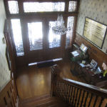 photo of foyer from top of stairs