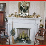 mistletoe magic fireplace mantle