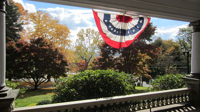 photo of bunting on front porch