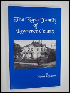 book cover to kurtz family of lawrence county