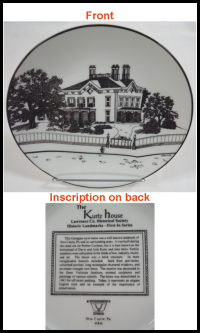 photo of Kurtz House china plate