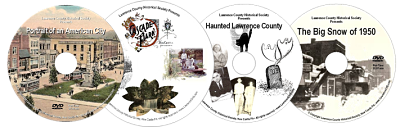 logo for our 4 pack of DVDs by Lawrence County Historical Society
