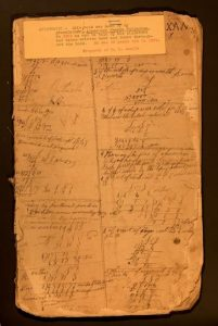 page from alexander fullerton ledger circa 1820s