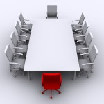 photo of board room table and chairs