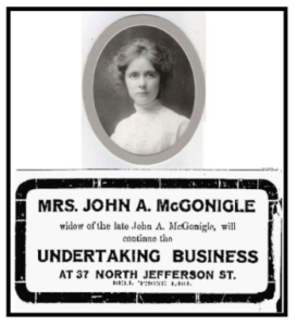 photo of elizabeth mcgonigle circa 1907