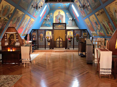 photo of chapel at the ellwood city Orthodox Monastery of the Transfiguration