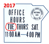 our 2017 office hours sign