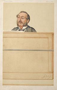 caricature of ira d sankey 1875