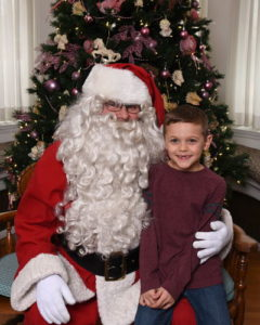 photo of child with santa