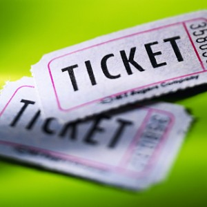 photo of ticket