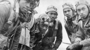 photo of some tuskegee airmen from world war 2