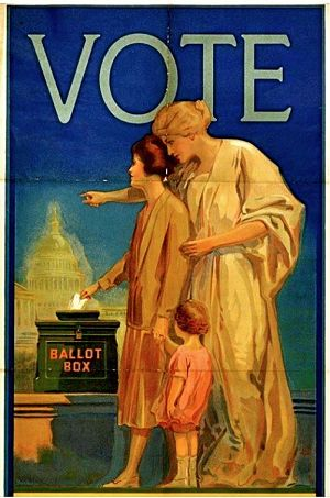 photo of vote poster