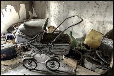 photo of antiques in attic