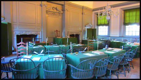 photo of assembly room at independence hall