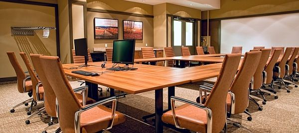 photo of a conference table