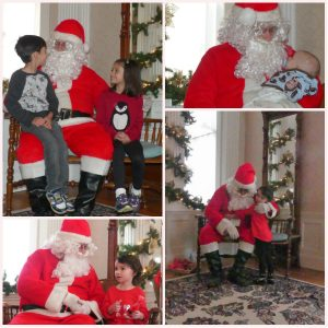 photo of children with santa
