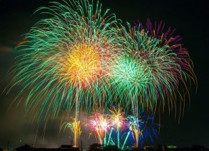 photo of colorful fireworks in night sky