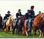 civil war sodiers on horseback