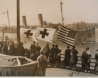 photo of troops on transport louisville returning home 1919